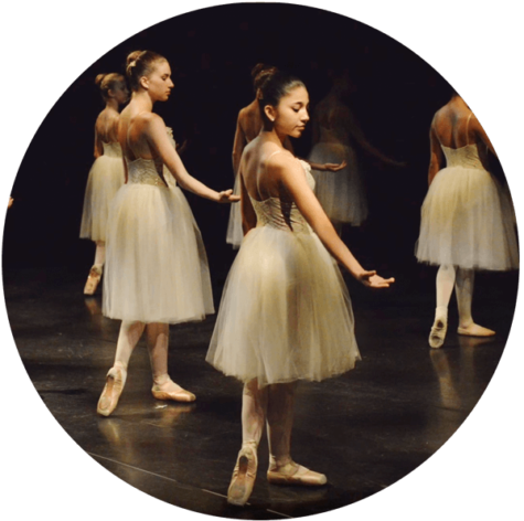Ballerinas dancing on stage
